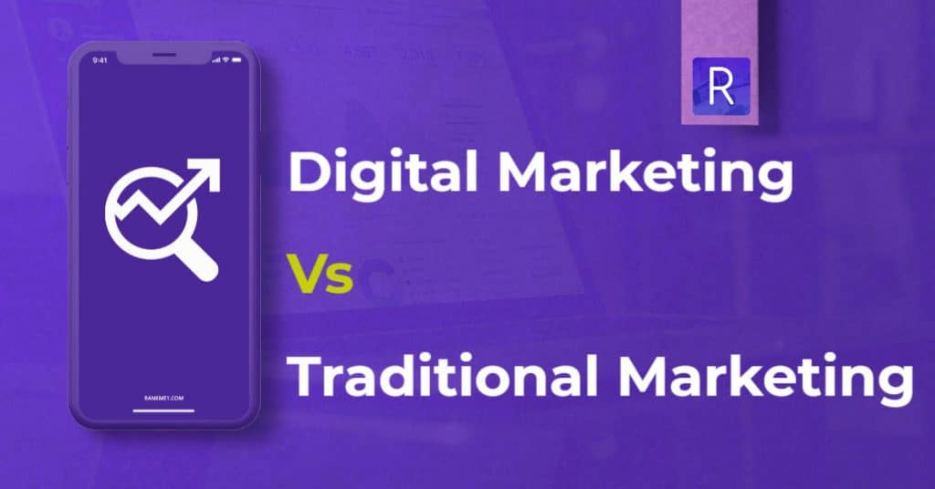 banner showing Digital Marketing vs Traditional Marketing