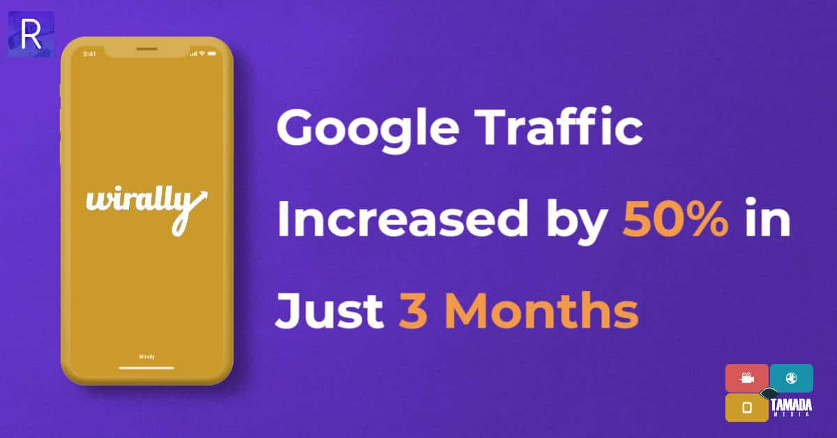 image showing google traffic increased by 50 percent for wirally