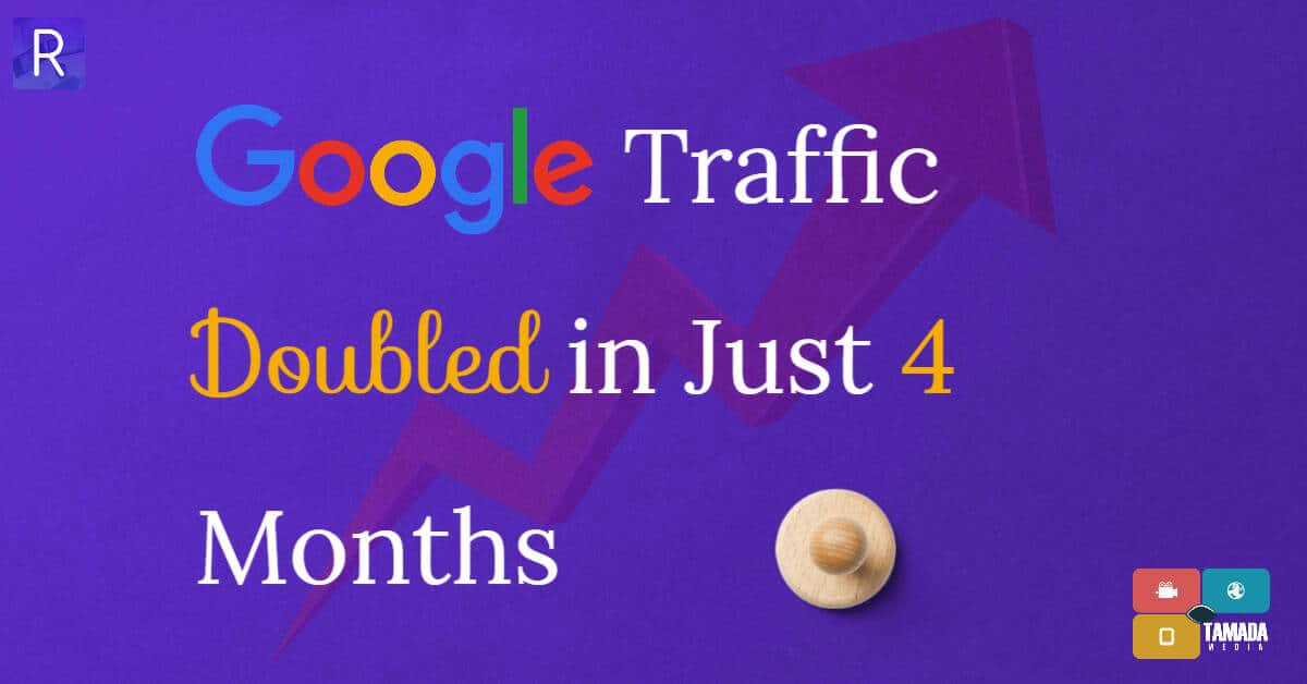 Google Traffic of wirally doubled in 4 months