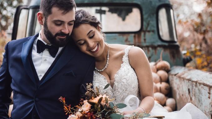 A Couple In A Wedding