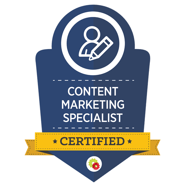 Content Marketing Badge by digital marketer