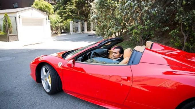 Divyank Turakhia Driving A Costly Car