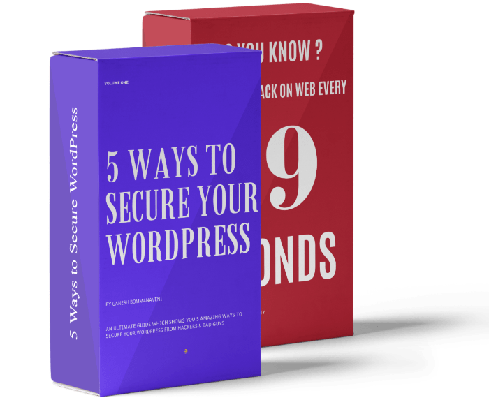 5 Ways To Secure WordPress Bonus Package