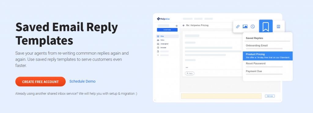 Saved Email Reply Templates In Helpwise