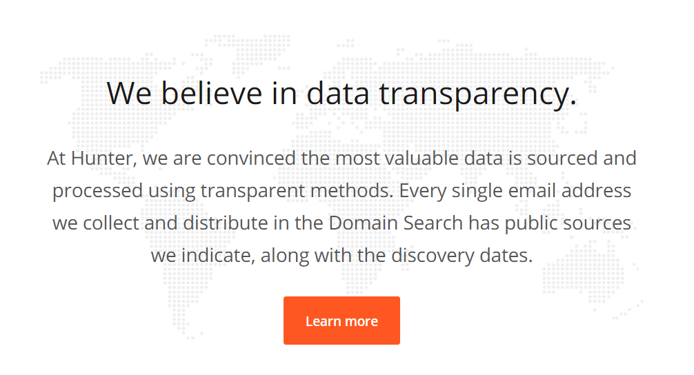 Data Transparency At Hunter.io