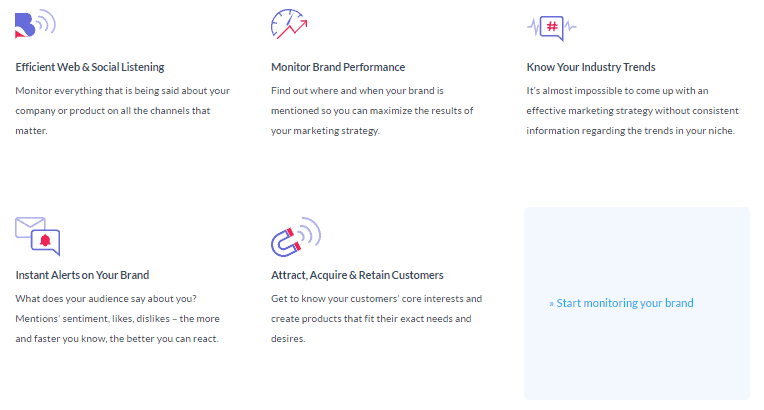 List Of Main Features Of Brandmentions