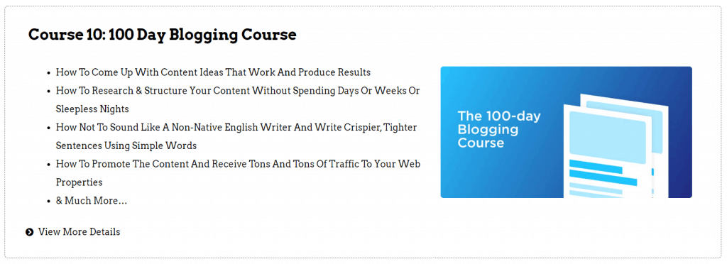 Screenshot Of 100 Day Blogging Course Of Digital Deepak