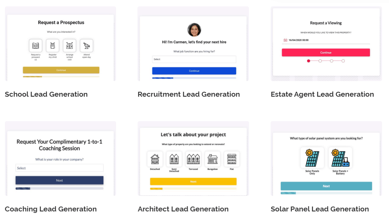 Six Sample Templates Of Leadformly