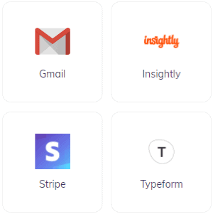 Integrately 4 Apps In Grid Format